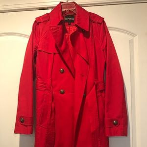Red Express Trench Coat